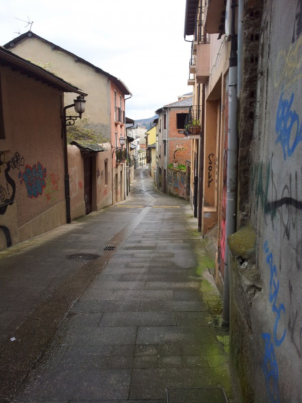 Streets on the outskirts of Ponferrada