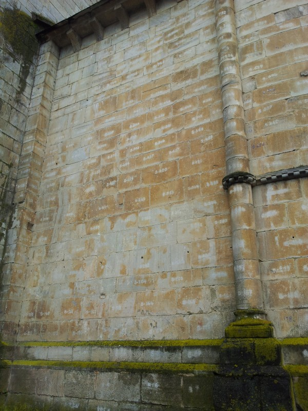 How they marked the bricks to rebuild the cathedral to its exact replica